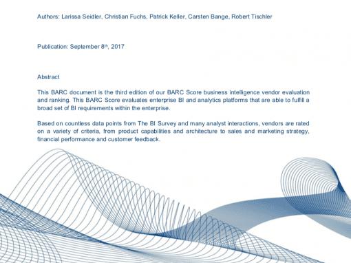 BARC Score for Enterprise BI and Analytics Platforms