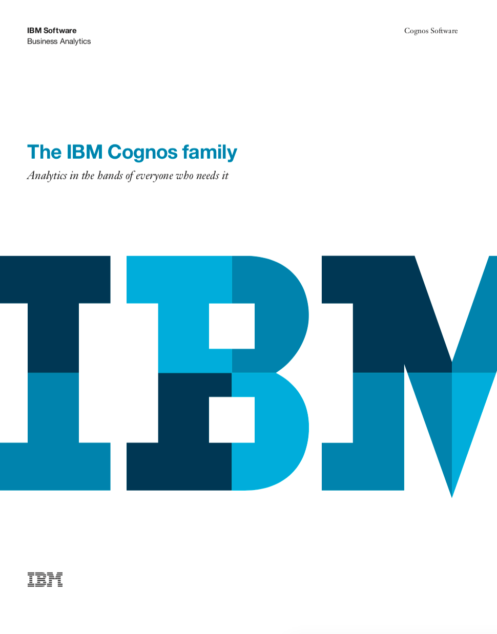 The IBM Cognos Family