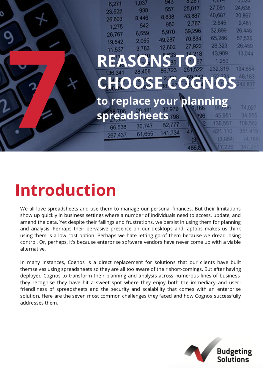 7 reasons to choose Cognos