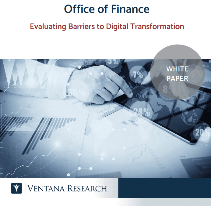 Ventana Research: Change in the Office of Finance