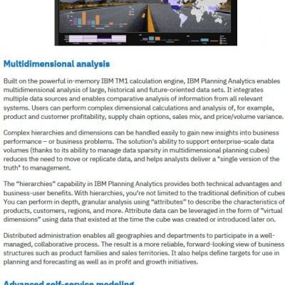 IBM Planning Analytics Solution Brochure